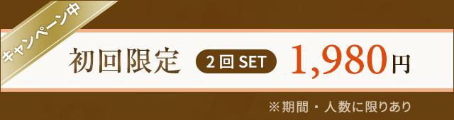 初回限定2回セット1,980円
